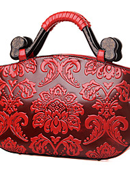 Women Bags All Seasons PU Shoulder Bag Tote Satchel for Wedding Event/Party Shopping Casual Red Green Blue