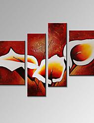 Визуальный star®modern 4 Панель масляной живописи цветок домашнего декора стены искусства готовы повесить
