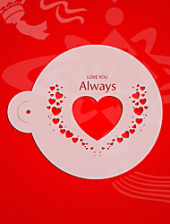 Valentine Gift Cookie Stencil,Coffee Candy Stencils,Fondant Cake Decorating tencilS Heart Decoration  ST-3091