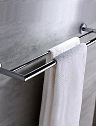 Недорогие -Держатель для полотенец Современный Латунь 1 ед. - Гостиничная ванна 2-х опорная балка