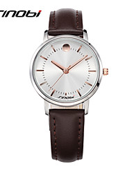 SINOBI Women's Fashion Watch Casual Watch Quartz Water Resistant / Water Proof Leather Band Minimalist Brown