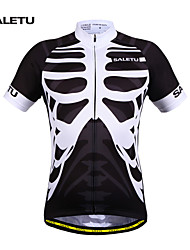 SALETU Cycling Jersey Unisex Short Sleeves Bike Jersey Top Quick Dry Breathable Lightweight Materials Reflective Strips Sweat-wicking