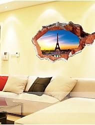 Arquitectura / Moda / Feriado / Formas / Fantasia / Lazer Wall Stickers Autocolantes 3D para Parede , PVC 70*100cm