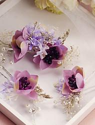 cheap -Fabric Alloy Hair Pin Headpiece Wedding Party Elegant Feminine Style