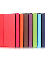 cheap -Case For Lenovo Full Body Cases Tablet Cases Solid Color Hard PU Leather for
