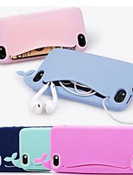 abordables -caja suave linda de la ballena linda del silicón para las cajas del iphone del iphone 4 / 4s
