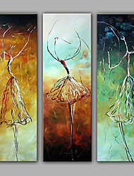 Framed Group Dancing People Oil Painting Ready to Hang on Any Wal Screw