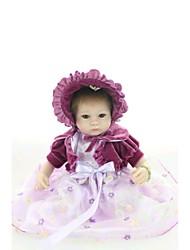 cheap -NPK DOLL Reborn Doll Baby 18inch Silicone / Vinyl - Newborn, lifelike, Cute Girls' Kid's Gift