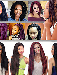 blue Havana Twist Braids Hair Extensions 22inch Kanekalon 2 Strand 120g/pcs gram Hair Braids