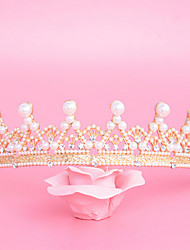 Imitation Pearl Rhinestone Alloy Tiaras Headpiece