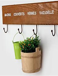The Simple Wooden  Door Hanging Hook Retro Pastoral Coat Hanger Row Hook New