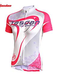economico -TASDAN Maglia da ciclismo Per donna Manica corta Bicicletta Maglietta/Maglia Top Set di vestiti Asciugatura rapida Resistente ai raggi UV