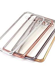 economico -Custodia Per Samsung Galaxy Samsung Galaxy Custodia Placcato / Transparente Per retro Tinta unita TPU per A7(2016) / A5(2016) / A9