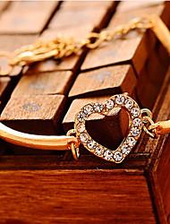 cheap -Lucky Doll Women's All Matching Geometric Cubic Zirconia Heart Bracelet