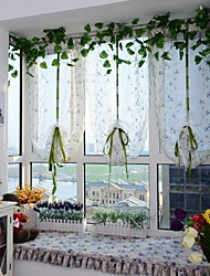 1PCS Roman Curtains Flower Embroidery Sheer Shade Balcony Windows Curtain