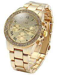 Decorative Sub-dials Diamond Quartz Watch Stainless Steel Body for Men Wrist Watch Cool Watch Unique Watch