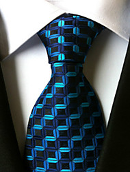 cheap -New  Blue waves Classic Formal Men's Tie Necktie Wedding Party Gift TIE0123
