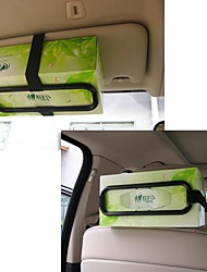 ziqiao titular caixa de plástico papel de tecido carro da moda viseira para banco de trás