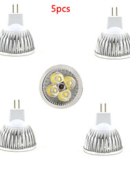 5pcs MR16 LED Spotlight MR16 4 SMD 350lm Warm White Cold White Decorative DC12V