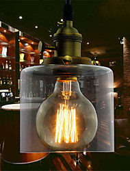 Max 60W Glass Brass Retro Vintage Industrial ART Cafe Dining Room Study Room/Office Garage Kitchen Pendant Light