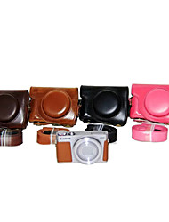 Etuis-Une épaule-Appareil photo numérique-Canon-Résistant à la poussière-Noir Rouge Café Marron