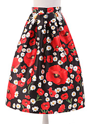 cheap -Women's Casual A Line Skirts - Floral