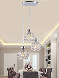 cheap -3-Light Pendant Light Ambient Light - Crystal, 110-120V / 220-240V Bulb Included / G9 / 10-15㎡