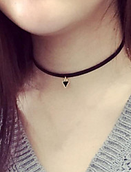 cheap -Women's Choker Necklace / Pendant Necklace / Torque - Leather Tattoo Style, Fashion Black Necklace For Party, Daily, Casual / Tattoo Choker