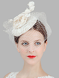 cheap -Lady's Linen Feather Hat Headband for Wedding Party