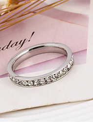 cheap -Women's Band Rings Fashion Simple Style Luxury Costume Jewelry Cubic Zirconia Imitation Diamond Alloy Jewelry For Party