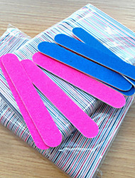 5Pcs Grit Professional Nail Files Nail Buffer Buffing Slim Crescent Grit Nail Tools Nail File Random Color