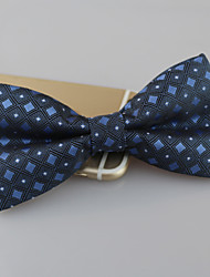 Men's Polyester Bow Tie,Vintage Cute Party Work Casual Print All Seasons Blue