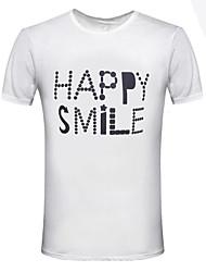 economico -T-shirt Per uomo Classico Classico, Tinta unita Con stampe