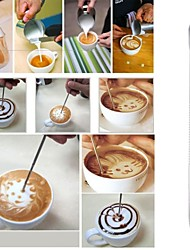 Coffee Latte Art Needle Stainless Steel Hook Fancy Stitch Hook Art Pen Tool Cappuccino Coffee Decoration Tools