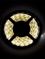 Недорогие -Гибкие светодиодные ленты 300 светодиоды Тёплый белый Белый Можно резать Водонепроницаемый Самоклеющиеся Компонуемый DC 12 В DC 12V