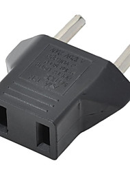 US Plug to EU Power Plug Adapter - Black