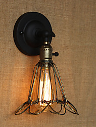cheap -American Industrial-Style Fence Iron Mesh Bronze Decorative Wall Sconce