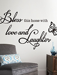 Wall Stickers Wall Decals Style Bless English Words & Quotes PVC Wall Stickers