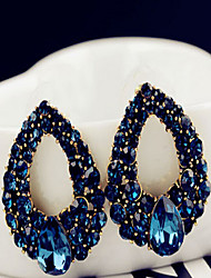 cheap -Women's Drop Earrings Earrings Sapphire Fashion European Statement Jewelry Costume Jewelry Gemstone Imitation Diamond Drop Jewelry For