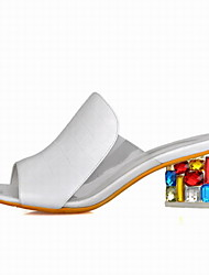 Fashion Women's Shoes Leatherette Chunky Heel Wedges / Peep Toe / Novelty Sandals Office & Career / Dress / Casual