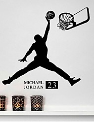 cheap -Boy playing basketball bedroom living room decorative wall stickers removable imitation water paste