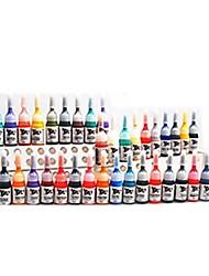 basekey 40 colore dell'inchiostro del tatuaggio x 5 ml