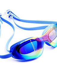 Недорогие -плавательные очки Водонепроницаемость Противо-туманное покрытие По предписанию врача Зеркальный силикагель Поликарбонат белый розовый черный розовый черный синий