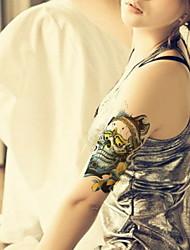 preiswerte -- Tattoo Aufkleber -Non Toxic / Muster / Große Größe / Glitzer / Tattoo Maschine / Stamm / Unterer Rückenbereich / Waterproof / 3-D /