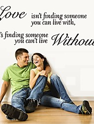 cheap -Wall Sticker Decal Mural Self Adhesive Paper Art Deco (Love Without Quote Sticker)