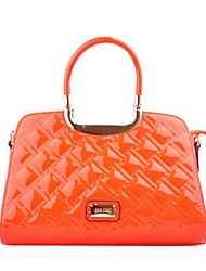 cheap -Women Bags PU Patent Leather Tote Pattern / Print Zipper for Casual Office & Career All Season Orange