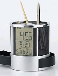 cheap -Multifunctional Wire Net Clock Calendar Pen
