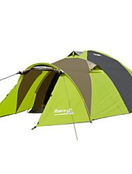billige -2 personer Telt til trekking Trelags Stang Kuppel Camping Telt Et Værelse  udendørs Vindtæt 2000-3000 mm  til Vandring Oxford / Regn-sikker