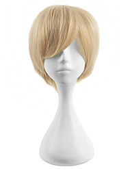cheap -Synthetic Wig Straight Blonde Women's Capless Carnival Wig Halloween Wig Cosplay Wig Synthetic Hair