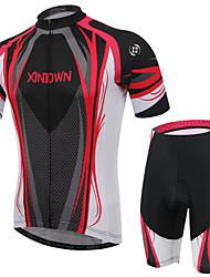 Недорогие -XINTOWN Велокофты и велошорты Универсальные С короткими рукавами Велоспорт Шорты Митенки Джерси Наборы одежды Быстровысыхающий
